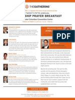 Leadership Prayer Breakfast Invite