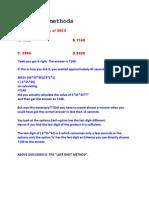Shortcut Methods For IIT