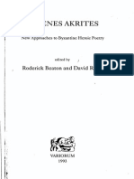 Digenes Akrites. New Approaches to Byzantine Heroic Poetry