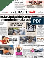 Periódico Norte edición del día 11 de septiembre de 2014