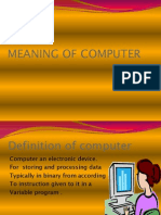 Meaning of Computer