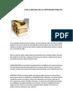 Ley Reguladora Del Ejercicio de La Contaduría Pública en El Salvador