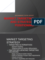 Market Targeting and Strategic Positioning
