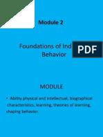 LOB MODULE 2 Individual Behaviour