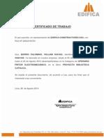 Edifica Certificado de Trabajo 77