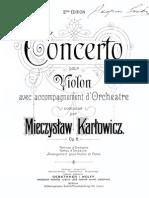 M.karlowicz Violin Concerto