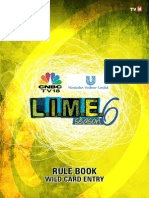 LIME 6 Rule Book for Wild Card 2014