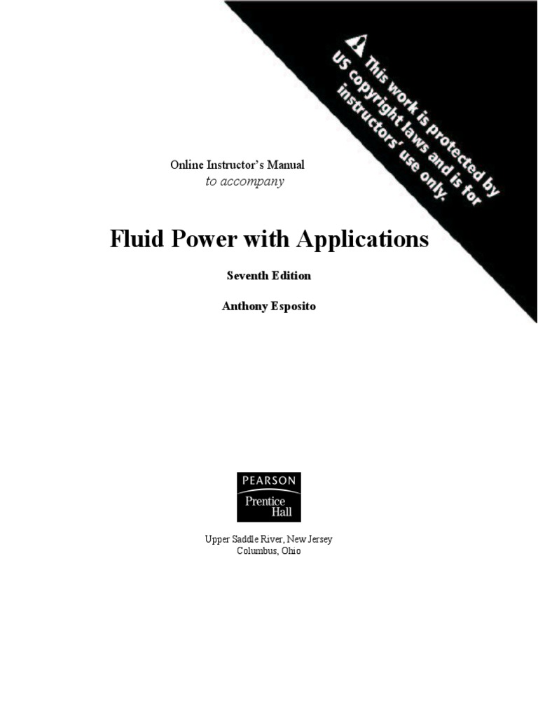 SOLUTION!!!-Fluid-Power-With-Applications-ESPOSITO,Anthony-7th ed..pdf |  Programmable Logic Controller | Pressure