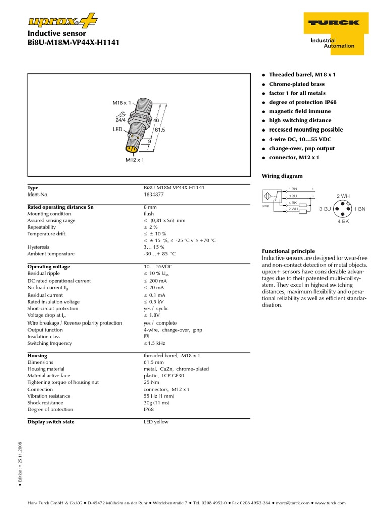 Turck Sensor Wiring Diagram Pnp Library