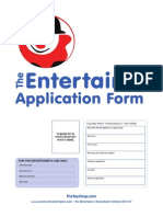 Entertainer E-Application Form 2011