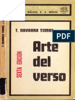 87880506 Tomas Navarro Tomas Arte Del Verso 1975