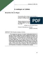La Analogia en Leibniz