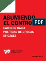Asumiendo el control. Camino hacia políticas de drogas eficaces (sept. 2014)