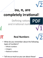 2 irrational numbers