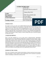 ECON 2003 Course Outline-Semester 2-2013 2014