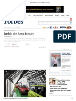 Forbes India Magazine - Inside the Reva Factory