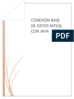 Conexion a Bd-java