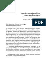 Delgado Nanotecnologia Militar y Sus Implicancias