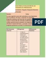rubricas para la evaluacion de las diferentes actividades de aprendizajes