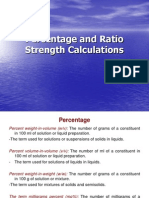 Percentage and Ratio Strength Calculations