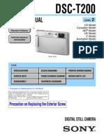 2454883 Sony Cybershot Dsc-t200 Service Repair Manual