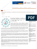 El Proximity Marketing, Un Poderoso Canal de Comunicación e Interacción Con Los Clientes.