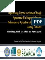 Aldon Sinaga - Presentation Material - Implementing Tripartid Involvement Through Agropreneurship - APEAEN