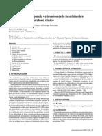 Metrología-2009-H-Recomendaciones Para La Estimación de La Incertidumbre de Medida en El Laboratorio Clínico (1)