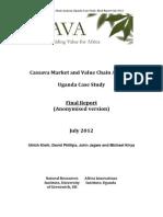UgandaCassavaMarketStudy FinalJuly2012 Anonymised Version2