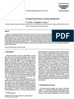 Application of Neural Networks to Lysine Production