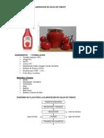 elaboracion de salsa de tomate