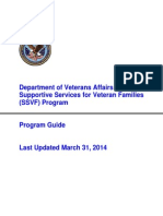 SSVF Program Guide March31 2014