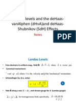 Landau Levels and the DHvA and DeHaas-Shubnikov Effects.3.Revised.06!05!13