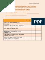 escala nmerica para evaluar discusion en clasesdoc 24f2ladislao