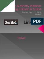 LinkedIn & Scribd Mission & Ministry Webinar