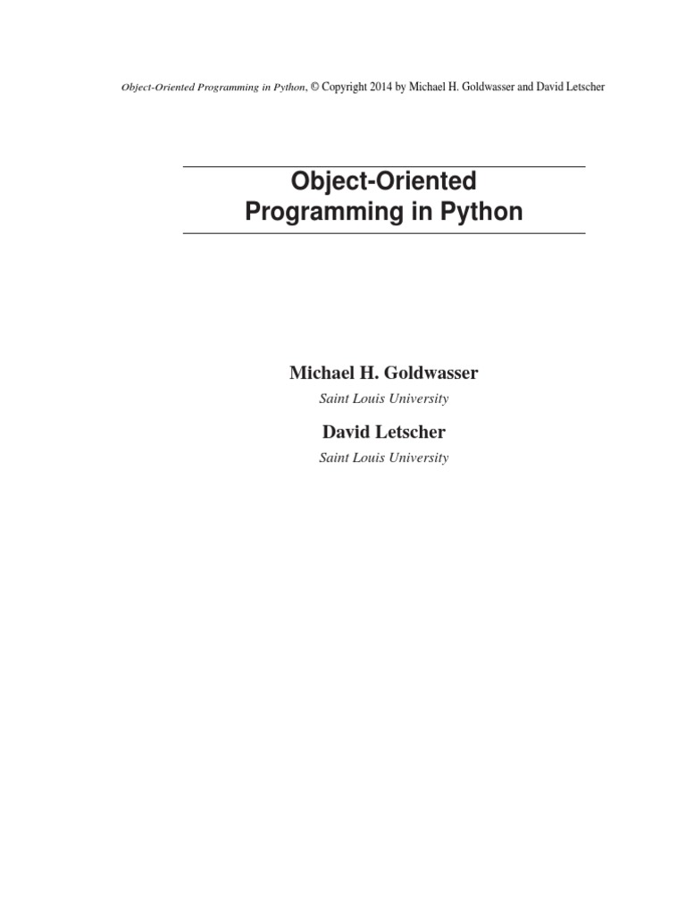 OO Programming in Python | Component Based Software