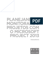Macrosolutions Treinamento Microsoft Project 2013 Pt