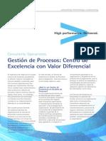Accenture Gestion Procesos Centro Excelencia Valor Diferencial
