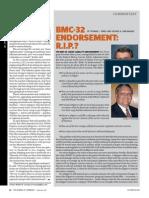 BMC-32 Endorsement R.I.P.--journal of Commerce 100812