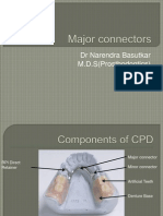 Maxillary major connectors