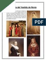 Historia Del Vestido de Novia