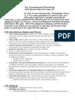 Psy 341 Quiz 1 Review Sheet