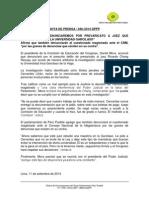 DENUNCIARÁN POR PREVARICATO A JUEZ QUE FALLÓ A FAVOR DE LA UNIVERSIDAD GARCILASO