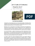 Mankind's Cradle of Civilisation Found in Java