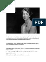 Anna Eleanor Roosevelt Primera Dama Que Más Tiempo
