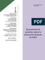 Educación después de 2015