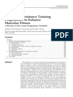 Designing Resistance Training Programmes to Enhance Muscular Fitness a Review of the Acute Programme Variables