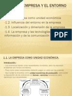 01 La Empresa y El Entorno