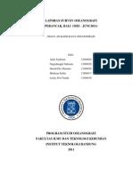 LAPORAN SURVEY OSEANOGRAFI PERANCAK-BALI (2011)