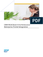 CRM WebClient UI %26 Netweaver Enterprise Portal Integration